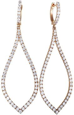 Odelia 18K Rose Gold 3.11 Ct. Tw. Diamond Earrings
