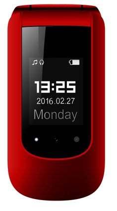 """YINGTAI T09 3G 2.4""""Double Screen Big Button Big Volume Big Fonts with SOS Button Senior Phone (Red): Amazon.co.uk: Electronics"""