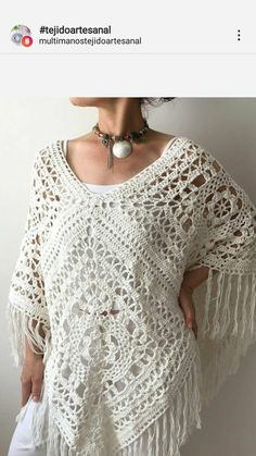 Crochet poncho 433260426654037560 - Summer poncho cotton poncho ivory poncho boho poncho boho Summer poncho cotton poncho ivory poncho boho poncho boho Source by lurdesoliveclh Cardigan Au Crochet, Crochet Poncho Patterns, Crochet Shawl, Crochet Lace, Doilies Crochet, Beau Crochet, Mode Crochet, Granny Square Poncho, Granny Squares