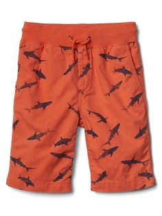 Masala Kids Boys Little Cargo Shorts Red