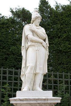 Tiridates I of Armenia (reign: 63 AD). Statue: Versailles, France