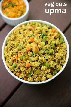 oats upma recipe, vegetable oats upma, oats for breakfast with step by step photo/video. a unique version of upma or uppittu recipe with cooking oats. Healthy Breakfast Recipes, Easy Healthy Recipes, Vegetarian Recipes, Free Recipes, Snack Recipes, Healthy Eating, Vegetarian Protein, Snacks Ideas, Health Recipes