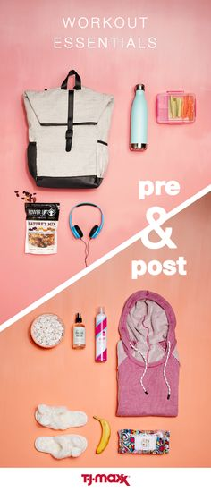 It's not just about the work out itself. Your routine before and after will set you up for success. Prep for the gym by filling your workout bag with healthy snacks and rockin' headphones. Wind down with your favorite hoodie, slippers and hydrating beauty products. Get the gear you need – from start to finish – at T.J.Maxx.