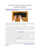 Anuncian Creación de Litigios en Línea y Expedientes Digitales