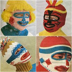 Knitted Balaclava ski-masks from 70´s craft magazine (via OutsaPop Trashion)  i'm scared