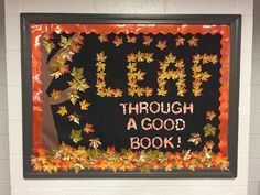 fall library bulletin boards - Google Search