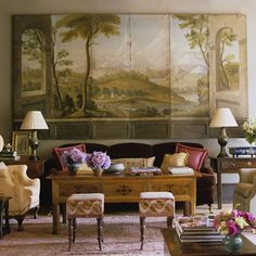 Southern Style Interior Design amelia handegan, southern accents - perfect use of a large mirror