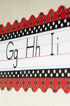 Just add the Red Plaid Border Trim around the Black Polka Dots Traditional Printing Mini Bulletin Board to give it an entirely new look! Display the alphabet and numbers 0-10 as a handy reference for students.
