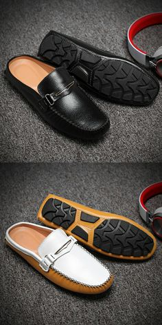 US $27.01 <Click to buy> Ectic Big Size 45 46 47 Backless Causual Shoes for Men Summer Daily Soft Fashion Slip on Classical Fresh Non-slip Dropshipping