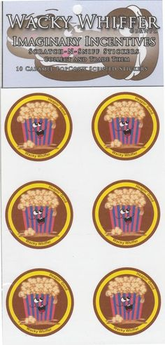 Wacky Whiffer Scratch and Sniff Stickers Caramel Popcorn Scented! ITM#SII019E3 #WackyWhiffer #ScratchSniff