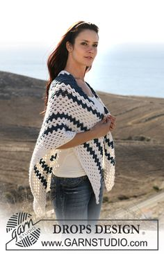 "DROPS crochet shawl in ""Silke-Alpaca"". ~ DROPS Design"