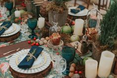 Mesa de jantar de Natal   Villa Giardini   Natal da Villa   Christmas Decor   Feliz Natal