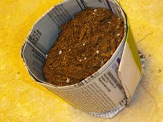 Newspaper Seed Pots-- what a great idea! Super cheap and great to decompose!