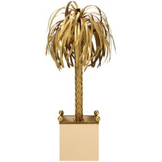 Palm Tree Floor Lamp Attributed to Maison Jansen, circa 1970 | From a unique collection of antique and modern floor lamps  at https://www.1stdibs.com/furniture/lighting/floor-lamps/