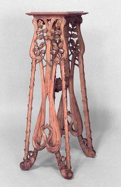 french art nouveau stripped floral filigree pedestal