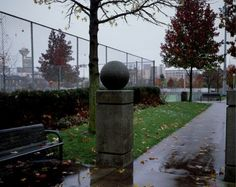 Jeff Wall  Concrete ball 2002 Transparency in lightbox 2040 x 2600 mm