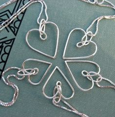 Wedding jewelry set Simple Heart necklace in by VisionQuest, $120.00