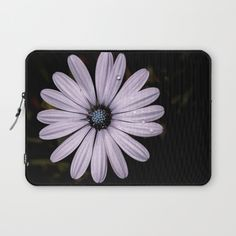 Buy Daisy Mauve Laptop Sleeve by xiari_photo. Worldwide shipping available at Society6.com. Just one of millions of high quality products available. #laptop #laptopsleeve #daisy, #mauve, #purple, #white, #violet, #indigo, #drop, #water, #flower, #nature, #natural, #garden, #outdoor, #backyard, #black, #background, #petals #bloom, #spring, #season, #happy, #central, #blue, #flowers, #head, #wet, #photo, #photography, #nikon, #dslr
