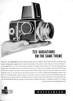 """""""723 variations on the same theme"""" publié dans : Photography Annual 1964."""