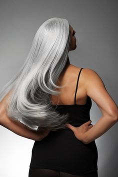 AlexB...redefining gray hair. . This is how i'll be embracing silver hair.. :)