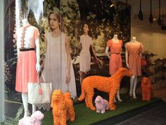 Chelsea in Bloom window scheme for Hobbs by Pom Pom Factory  x Hobbs to celebrate 100 years of the Chelsea Flower Show.    Photo courtesy of Hobbs    #pompomfactory