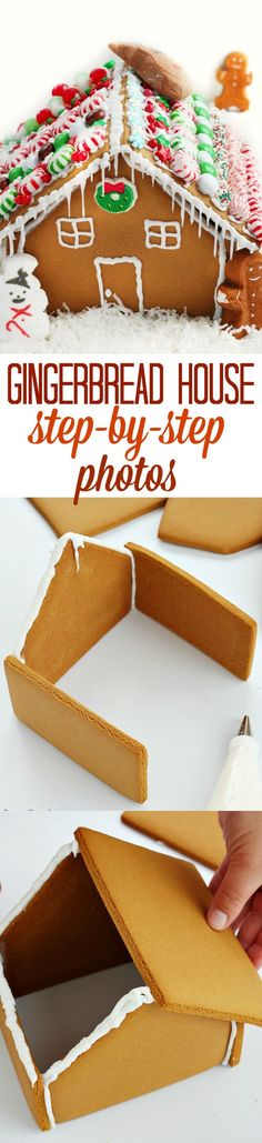Don't feel overwhelmed! Making a gingerbread house is really easy if you follow my tutorial with step by step photos!