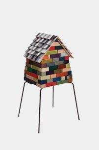 "keepsake box made with a Kasper Salto ""Map"" chair base, tiles created from a damaged Arne Jacobsen ""Series chair, various Fritz Hansen fabrics and vinyls Art Furniture, Contemporary Furniture, Furniture Design, Outdoor Furniture, Outdoor Chairs, Outdoor Decor, Fritz Hansen, Arne Jacobsen, Vinyls"