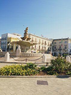 Piazza in Mola di Bari, Italy