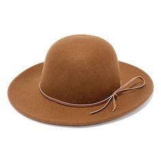 Rhythm Suffolk Brown Hat (37 CHF) ❤ liked on Polyvore featuring accessories, hats, round hat, round brim hats, band hats, brown hat and brimmed hat