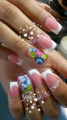 Pink and white with 3d