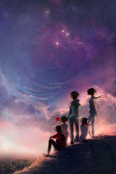 Olhar a mesma estrela, independente de onde possamos estar.