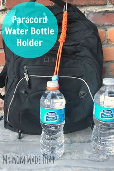My Mom Made That  Paracord Water Bottle Holder  Sponsored by Nestle Pure  Life Water 720efba673414