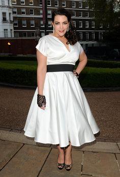 May 15, 2013, Hello Magazine Anniversary  Dress: Vivian of Holloway  Gloves: Alexander McQueen  Shoes: Jimmy Choo