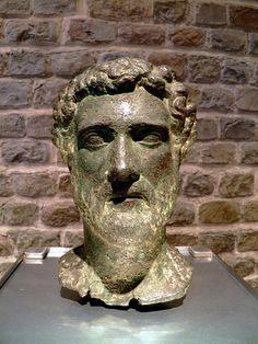 Bronze head of the Emperor Antoninus Pius, Romisch-Germanisches Museum, Cologne Antoninus Pius, Roman Emperor, Cologne, Metallica, Museum, Bronze, Sculpture, Statue, Photos