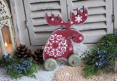 Купить Лосик новогодний Игорек :)) декупаж - лось, лосик, новогодний, новогодний подарок, Декупаж
