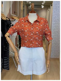 Looks Style, Crossdressers, Work Outfits, Happy Hour, Ideias Fashion, Shorts, Blouse, Casual, Clothes