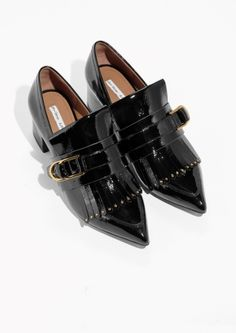 & Other Stories image 2 of Patent Leather Loafer Pumps in Black