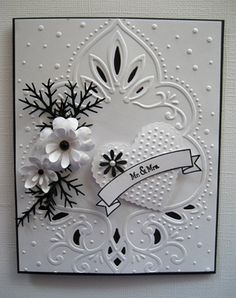 Embossed Mr. and Mrs. B&W card