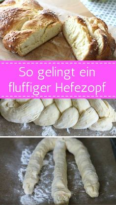 RECIPE Fluffy yeast braid with the cool Pizza Recipes, Lunch Recipes, Fall Recipes, Baking Recipes, Deep Dish Pizza Recipe, Healthy Eating Tips, Food Cakes, Food Blogs, Hot Dog Buns