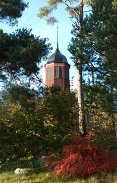 Bell tower Summer Photos, Archipelago, Abandoned Places, Tower, Cabin, Island, Photo And Video, Mansions, House Styles