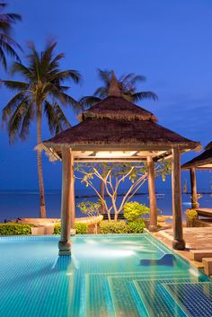 Thailand Paradise. A pool overlooks the sea at a Thai resort on Lamai beach in Koh Samui. wedding, bride, groom, beach, waterfront, harbor, coast, wind, veil, sunset, tropical, south, beach, marry, romantic. Thailand, Phuket, Samed, Phi-Phi, Satun, Pangna, Pattaya Find us on Facebook :) http://www.facebook.com/beachandwedding