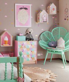 Belle combinaison couleurs pour une chambre de fille