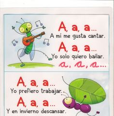 VOCALES RIMADAS - Google+. Click through for the rest of the vowels! Dual Language Classroom, Bilingual Classroom, Kindergarten Language Arts, Bilingual Education, Spanish Classroom, Classroom Ideas, Sight Word Activities, Letter Activities, Literacy Activities