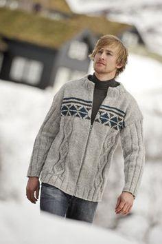 1011: Modell 15 Jakke #strikk #knit #fjells Knitting Patterns, Men Sweater, Pullover, Sweaters, Baby, Fashion, Tricot, Stapler, Scale Model