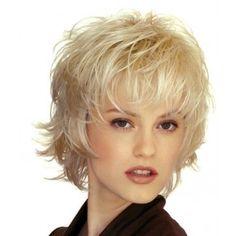 coupe courte ébouriffée Coiffure Coiffures cheveux