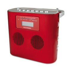 Radio & radio réveil Metronic Radio CD/MP3 Portable Rouge Radio CD/MP portable avec prise Jack 3,5 mm