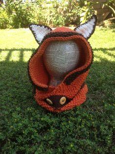 Fox Hooded Cowl Free Crochet Pattern