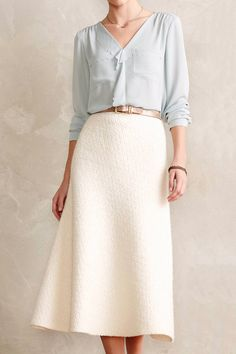 Snowfield Midi Skirt by Anthropologie