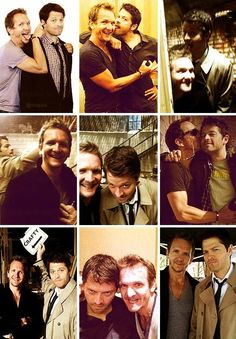 Misha Collins and Sebastian Roché from Supernatural