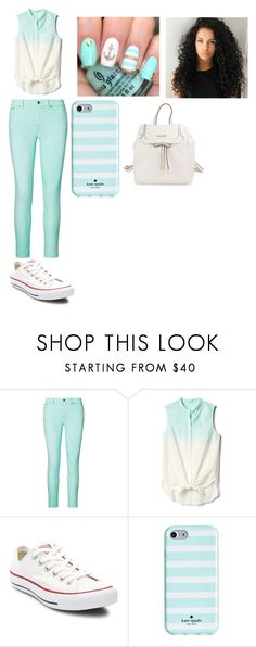"""""""First Day of School"""" by kit-kat-09 on Polyvore featuring moda, Ralph Lauren, Gap, Converse, Kate Spade y Calvin Klein"""